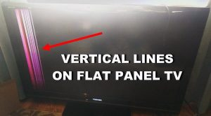 tv repair services with vertical lines