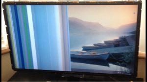 tv repair with vertical lines